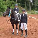 Saphira und Isabelle mit Pony Fabienne